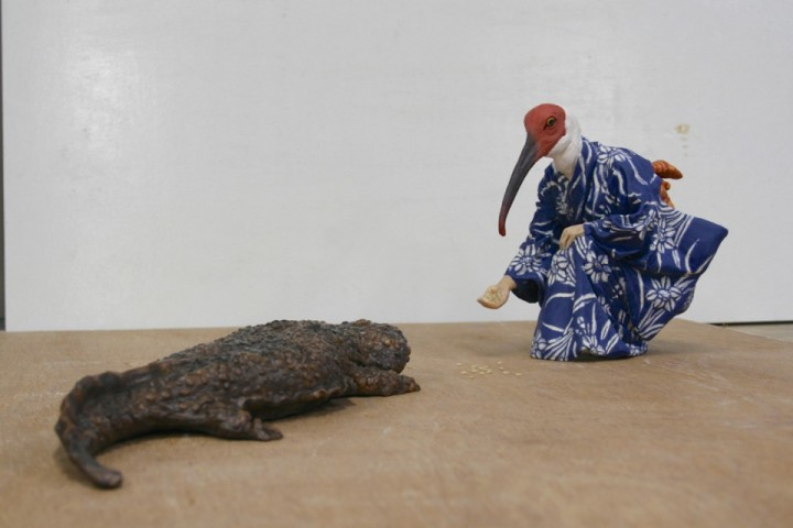 Alessandro_Gallo_Nausicaa_Japan_Crested_Ibis_Giant_Salamander_Yukata_Progress_Shot
